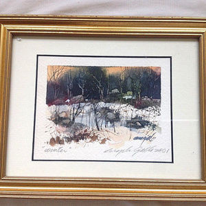 "Original ""Winter"" watercolor painting. SIGNED!"